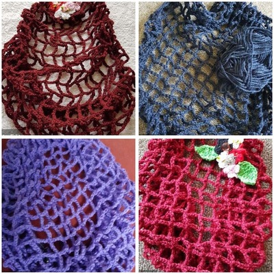 1940s Crochet Snood Montage