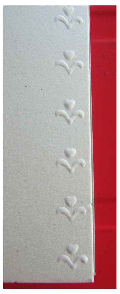 Emboss edge of card