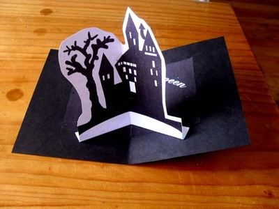 Printable Halloween House,spooky house,halloween craft, pop up card
