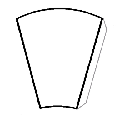 Large cone template