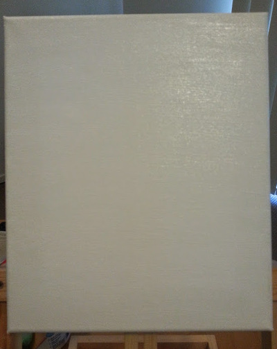 Canvas with gesso