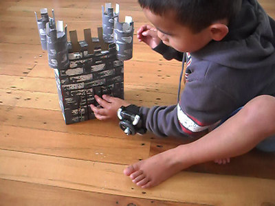 cardboard castle,fortress,make castle