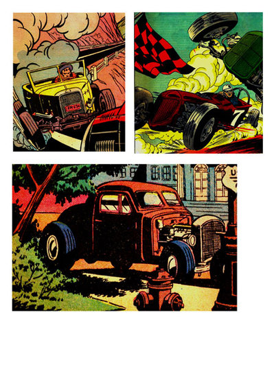 cars,hotrods,free printables,comic,collage