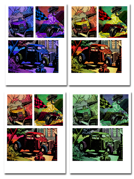 cars,hotrods,free printables,comic,collage  - Comic Book Cars
