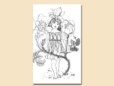 children colouring page,flowers,collage,cardmaking,scrapbooking,vintage