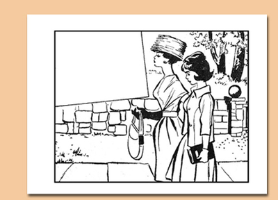 colouring page,women,romance,girl,mother