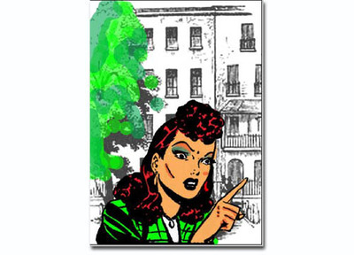 comicbook clipart,colouring in,digital,how to,composing a picture,card making