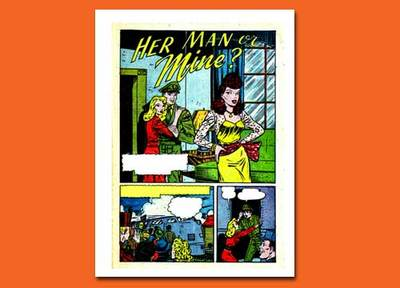 comic,journal page,collage,women,romance
