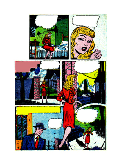 comic,journal page,collage,women,romance,colouring page