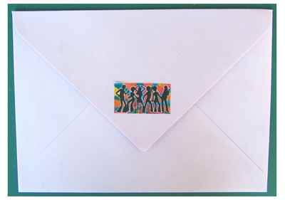 decorated envelope, 70s inspired