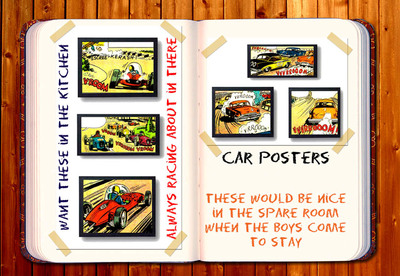 digital journal,inspiration,car posters,ideas,printables,how to use stuff from craft found