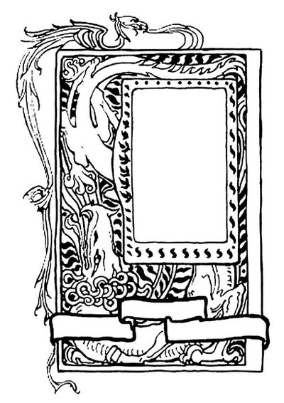 dragon frame,free printables,fantasy