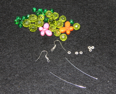 Earring beads and findings
