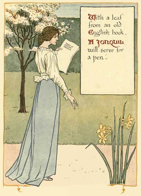 free printables,journal page,writing page,stationery,poster  - Floral Fantasy Journal Pages 8 - Walter Crane