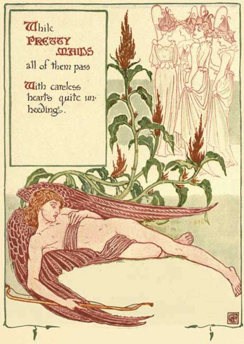 free printables,journal,writing,stationery,poster  - Floral Fantasy Journal Pages 9 - Walter Crane