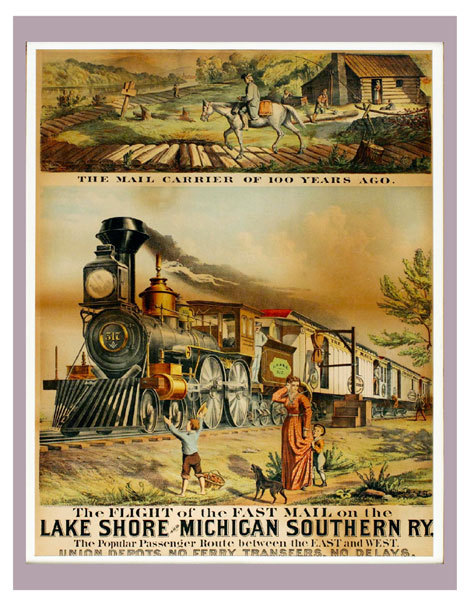 Vintage train posters craft found for Vintage train posters