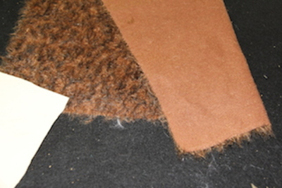 Fur and Suede paw fabric