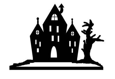 halloween craft,haunted house pop up,halloween table piece