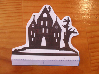 halloween house printable, halloween pop up card