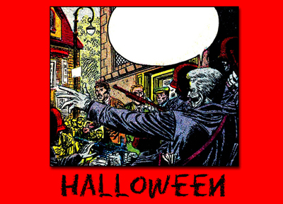 halloween printables,comicbook,collage,halloween cards