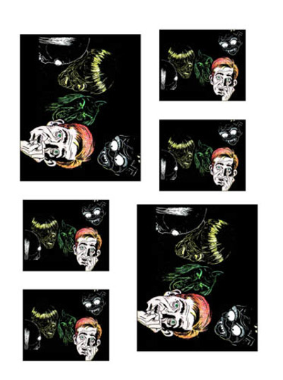 halloween printables,comicbook,collage,halloween cards,halloween collage