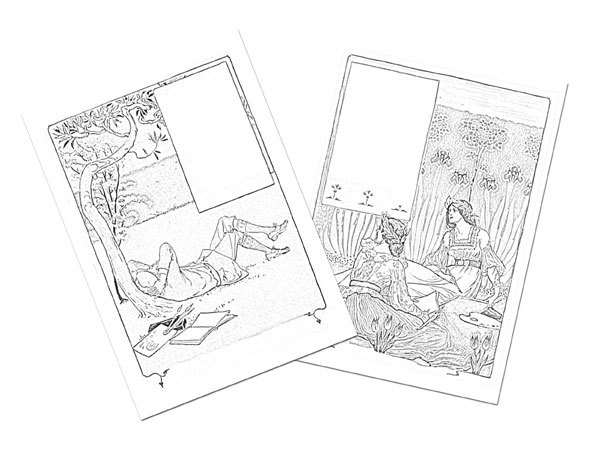 journal colouring page,free printable,vintage