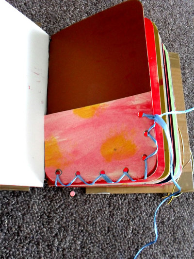 make a journal,book making,cardboard journal