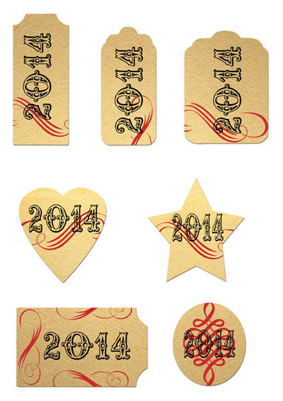 new year tags,2014,scrapbooking,journal