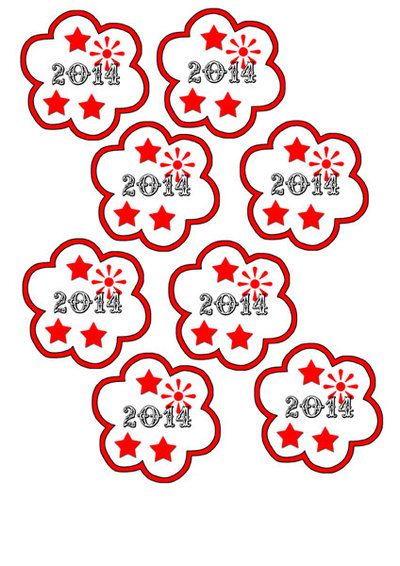 new years printables,cupcake toppers,party supplies