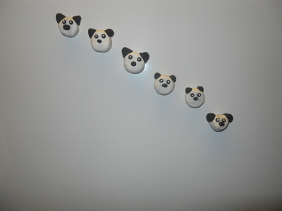 panda, fridge magnets