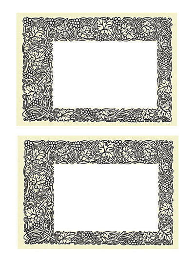 printable border, floral border, make vintage card