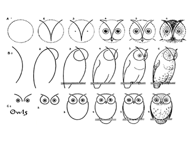 printables,drawing,how to draw,public domain,drawing series1,animals,owl,birds
