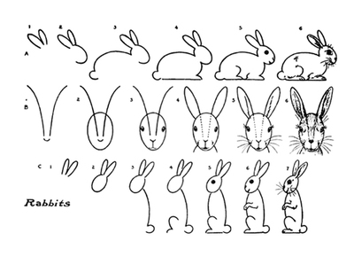 printables,drawing,how to draw,public domain,drawing series1,animals,rabbits