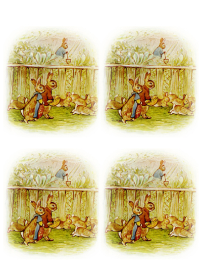 rabbit,peter rabbit collage sheet,beatrix potter,bunnies,vintage