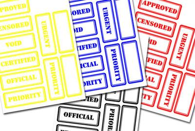 rectangle labels,word stamps, word seals,stickers