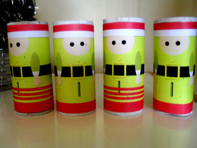 recycle,cardboard tubes,christmas craft,elf boy