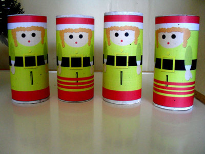 recycle,cardboard tubes,christmas craft,elf girl