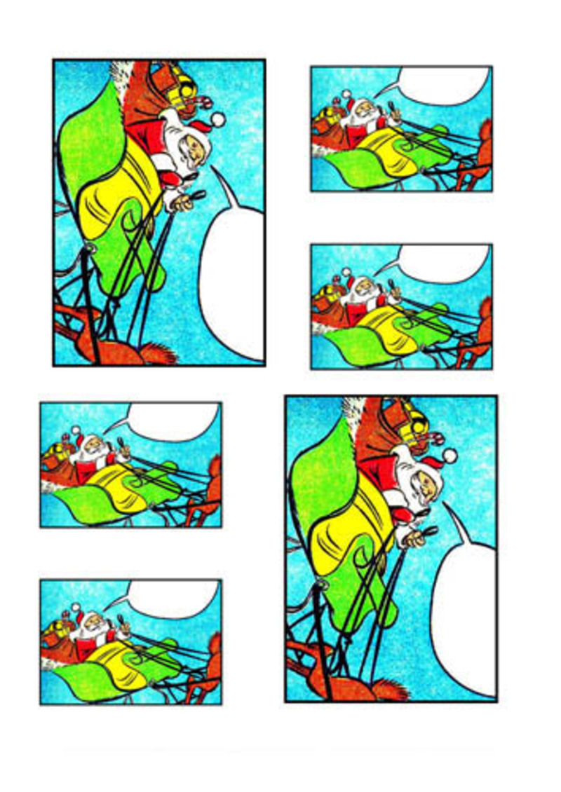 santa collage,christmas,collage,father christmas,santa collage sheet  - Santa Collage Sheet 9