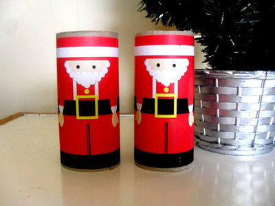 santa,christmas craft,tube craft,recycle,father christmas