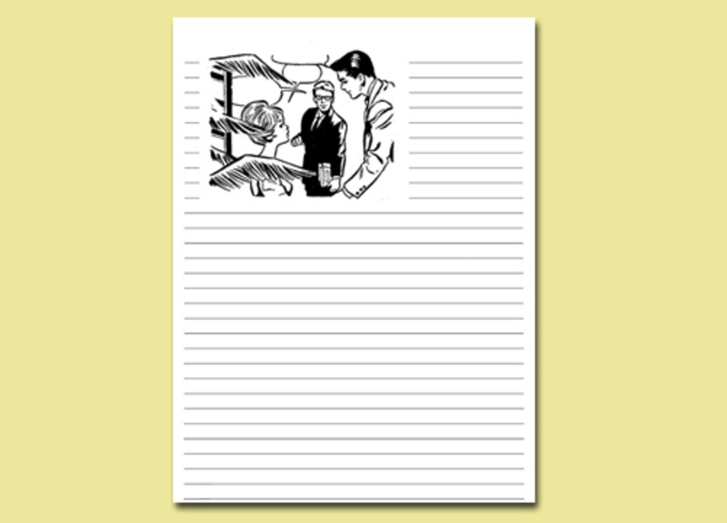 serenata journal page,printable journal page,women,colouring in,writing page,free printables  - Serenata Lined Journal Page 14