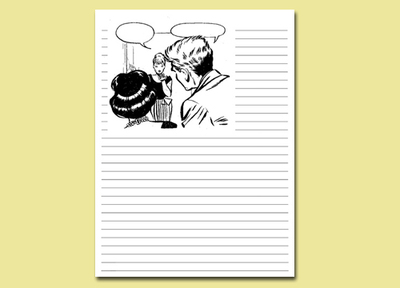 serenata journal page,printable journal page,women,colouring in,writing page,free printables
