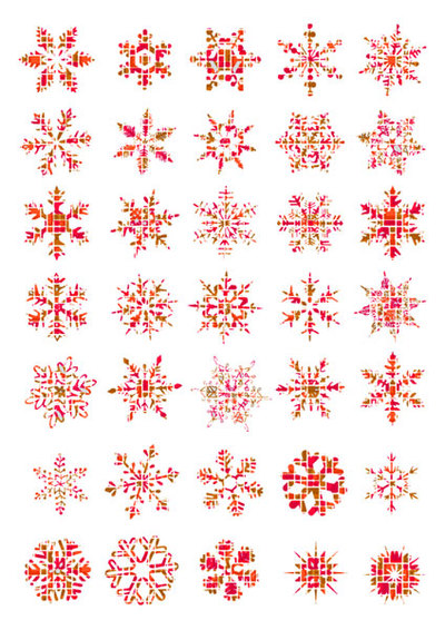 snowflake stickers,free christmas printable