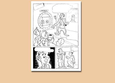 wotalife,comic,public domain,cartoon,animals,cartoon animals,comic colouring page,comic page panel